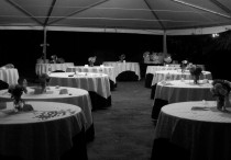 The tent after the meal