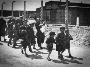 Walking toward the gas chambers