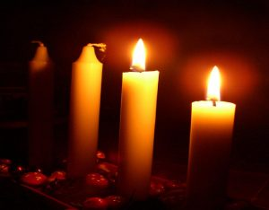 second_sunday_in_advent_and_two_candles_are_lit